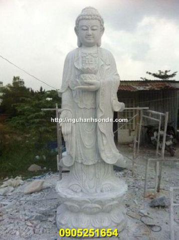 Tượng Phật a di đà đá nguyên khối