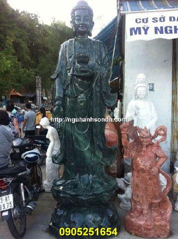 Tượng Phật a di đà bằng đá xanh ấn độ