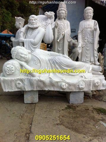 Tượng Phật Thích Ca  nhập niết bàn đá nguyên khối