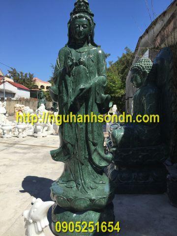 Phật quan âm đá xanh ngọc ấn độ