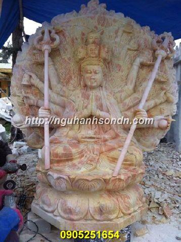 Tượng Phật chuẩn đề bồ tát bằng đá cẩm thạch