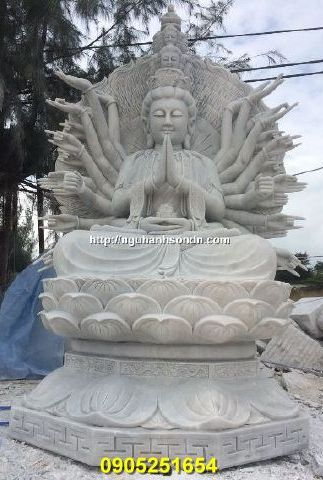 tượng thiên thủ thiên nhãn bằng đá cẩm thạch